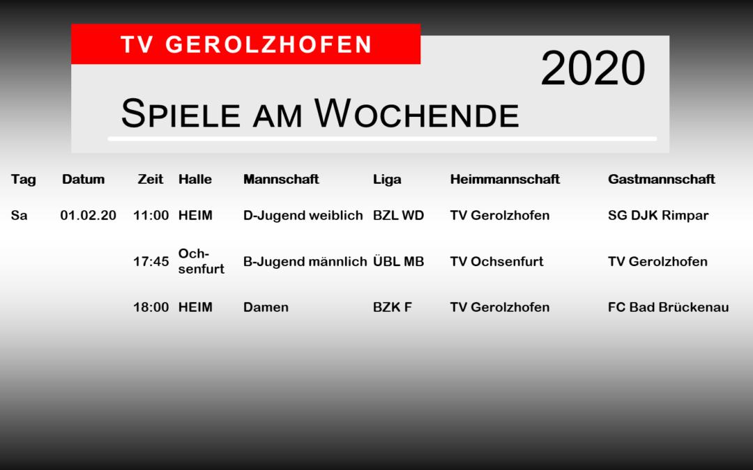 Spieltag 1.2.2020
