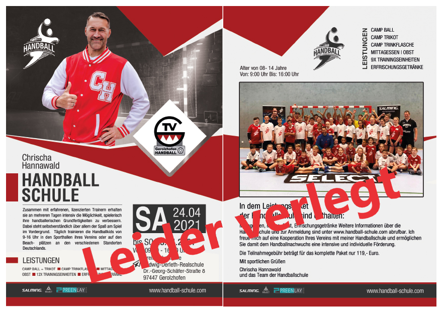 Verlegung des 1. TV Gerolzhofen Handballcamps
